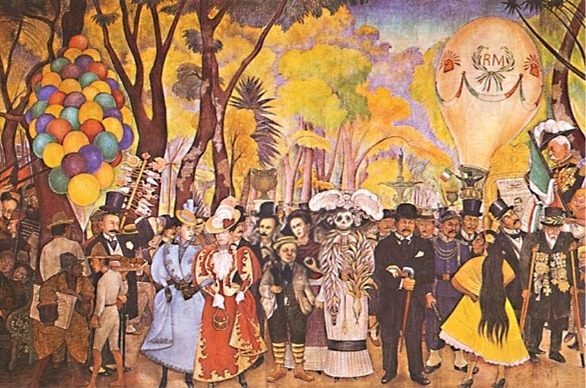 Forensic genealogy book contest for Diego rivera day of the dead mural