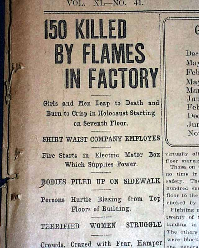 """a review of rose schneiderman and the triangle fire an essay by bonnie mitelman Us history after 1876 hist-112 summer 2016 essay projects – 300 points (see bonnie mitelman, """"rose schneiderman and the triangle fire'."""